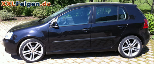 vw golf alufelgen dbv mauritius front polished. Black Bedroom Furniture Sets. Home Design Ideas