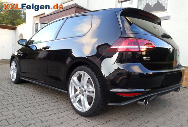 vw golf vii gti mit 18 zoll dbv mauritius alufelgen. Black Bedroom Furniture Sets. Home Design Ideas