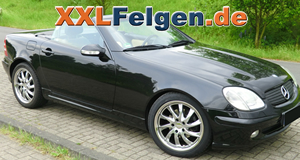 Mercedes SLK + DBV Milano hyperlack Turbinenfelgen 18