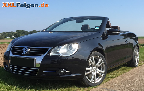 vw eos und dbv andorra 17 zoll alufelgen in shadow silber. Black Bedroom Furniture Sets. Home Design Ideas