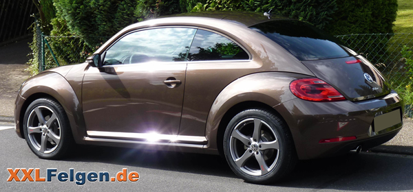 ein vw beetle mit dbv venezia 18 zoll leichtmetallfelgen. Black Bedroom Furniture Sets. Home Design Ideas