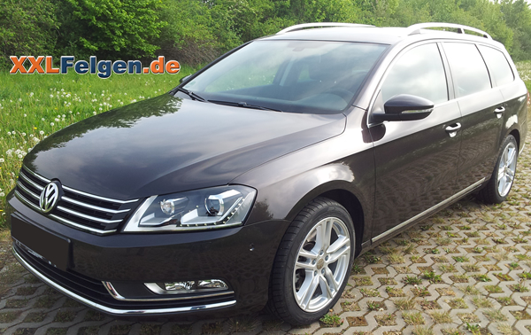 vw passat b7 dbv mauritius 17 zoll alu felgen. Black Bedroom Furniture Sets. Home Design Ideas