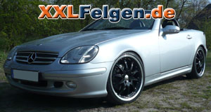 Mercedes SLK + DBV S-Australia 19  Zoll Felgen