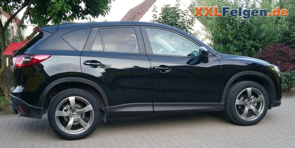 mazda cx 5 mit 19 zoll dbv torino 2 alufelgen und suv. Black Bedroom Furniture Sets. Home Design Ideas