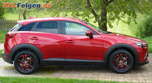 mazda cx 3 mit den 16 zoll dbv andorra alufelgen. Black Bedroom Furniture Sets. Home Design Ideas