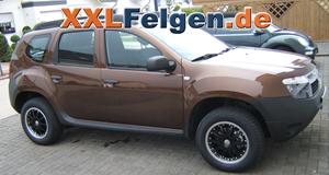Dacia Duster + DBV Australia black 16 Zoll Aluräder
