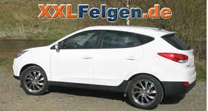 Hyundai iX35 und 19 Zoll DBV Milano hyperlack Alufelgen