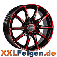 DBV Tropez Red Edition Colourline Alufelgen