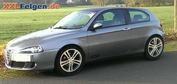 Alfa Romeo 147 mit silber lackierten DBV Mauritius Alufelgen