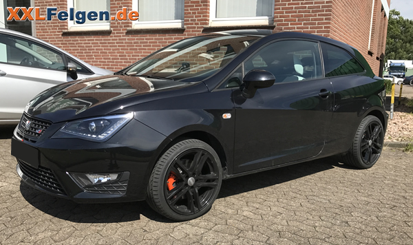 alufelgen 17 zoll dbv mauritius schwarz am seat ibiza. Black Bedroom Furniture Sets. Home Design Ideas