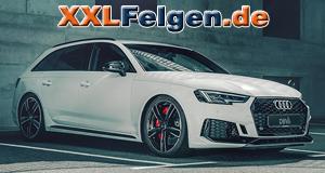 Audi RS4 mit DBV Alufelgen 5SP 004 DARK