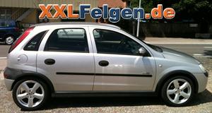 Opel Corsa C + DBV Samoa 16 Zoll Felgen Bilder Galerie