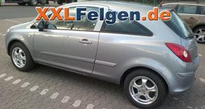 Opel Corsa D + DBV Tahiti 15 Zoll Felgen und Reifen
