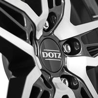 DOTZ Interlagos dark Aluräder in gunmetal frontpoliert