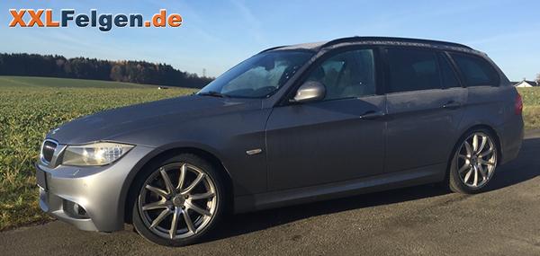 18 Zoll Alufelgen DBV Tropez shadow silber für den BMW 3er E91