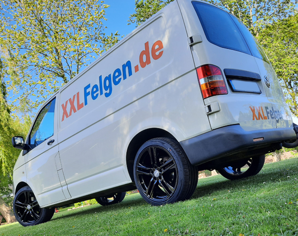 VW T5 20 Zoll Alufelgen: DBV Mauritius in schwarz