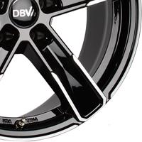 Schwarze DBV 5SP 004 Leichtmetallräder