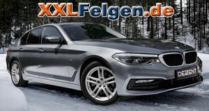 BMW F10 5er mit DEZENT TZ Felgen in metallic silber
