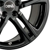 Leichtmetallräder DBV Mauritius in schwarz glänzend