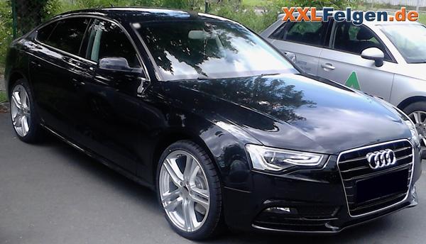 Audi A5 Sportback mit DBV Mauritius Alufelgen silber