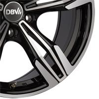 Schwarze DBV Vienna Leichtmetallräder mit polierter Front