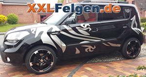 Kia Soul mit den DBV Torino II Felgen in 18 Zoll