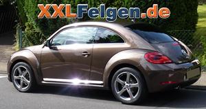 Ein VW Beetle mit DBV Venezia 18 Zoll Leichtmetallfelgen