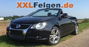 VW Eos und DBV Andorra 17 Zoll Alufelgen in shadow silber