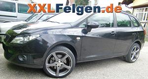 Seat Ibiza 6J + DBV Venezia 17 Zoll Felgen