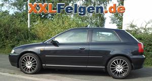 Audi A3 8L + DBV Florida black 17 Zoll Felgen