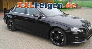 Audi A4 B8 mit schwarzen DBV Torino II 18 Zoll Leichtemetallfelgen