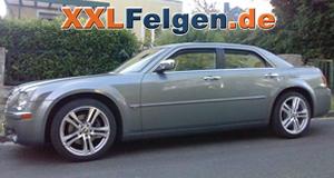 Chrysler 300C LX mit 20 Zoll Mauritius Alufelgen in silber von DBV