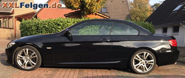 BMW E93 3er Cabrio und DBV Andorra 18 Zoll Felgen