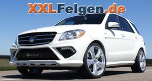 Mercedes ML 350 W4 und Hofele Reverso II 22 Zoll Alufelgen