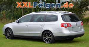 VW Passat mit schwarz lackierten, teilpolierten Leichtmetallfelgen