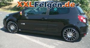 Renault Clio R + DBV S-Florida 17 Zoll Felgen