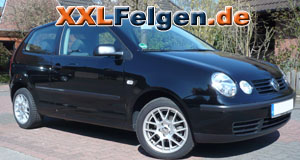 VW Polo + DBV Arizona 15 Zoll Felgen