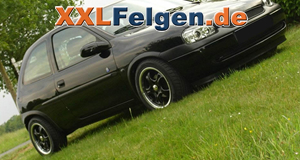 DBV Tahiti black 15 Zoll Felgen für  Opel Corsa B