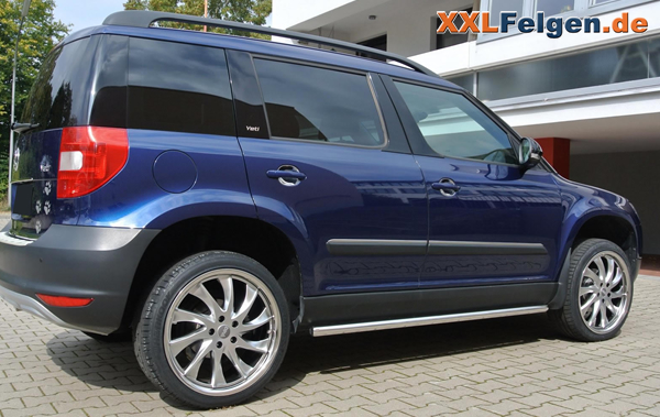 skoda yeti mit 19 zoll alufelgen dbv milano hyperlack. Black Bedroom Furniture Sets. Home Design Ideas