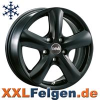Schwarz lackierte, winterfeste DBV Alufelgen
