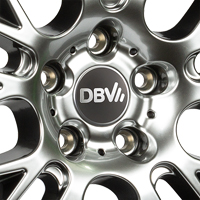DBV 5KS 003 Alufelgen in hypersilber im Detail