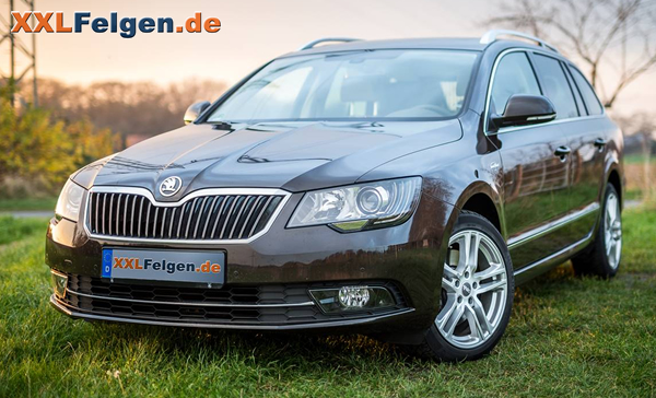 skoda superb mit dbv mauritius winterfelgen und conti reifen. Black Bedroom Furniture Sets. Home Design Ideas
