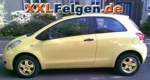 Toyota Yaris + DBV Tahiti Felgen in gelb