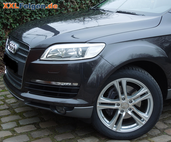 audi q7 mit 20 zoll felgen von dbv der mauritius in silber. Black Bedroom Furniture Sets. Home Design Ideas