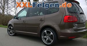 VW Touran mit DBV Torino II 18 Zoll Alufelgen in anthrazit matt