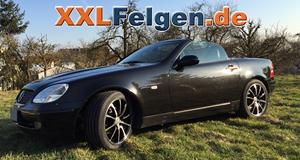 Mercedes SLK 170 und schwarzen DBV Tropez 17 Zoll Felgen