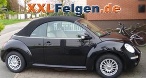 VW Beetle auf DBV Florida 15 Zoll Alufelgen und Continental Reifen