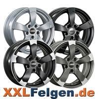 DBV Torino 2 Rotorfelgen schwarz-poliert