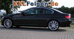 BMW 3er E92 mit DBV Milano Felgen hyperlack
