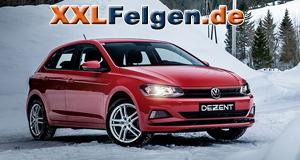 VW Polo mit DEZENT TZ Felgen in metallic silber